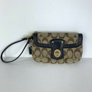 Coach Wristlet Purse Small Brown Black